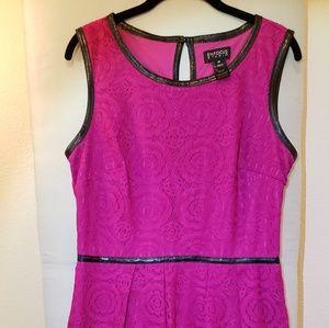 Fuchsia/ Hot pink lace dress
